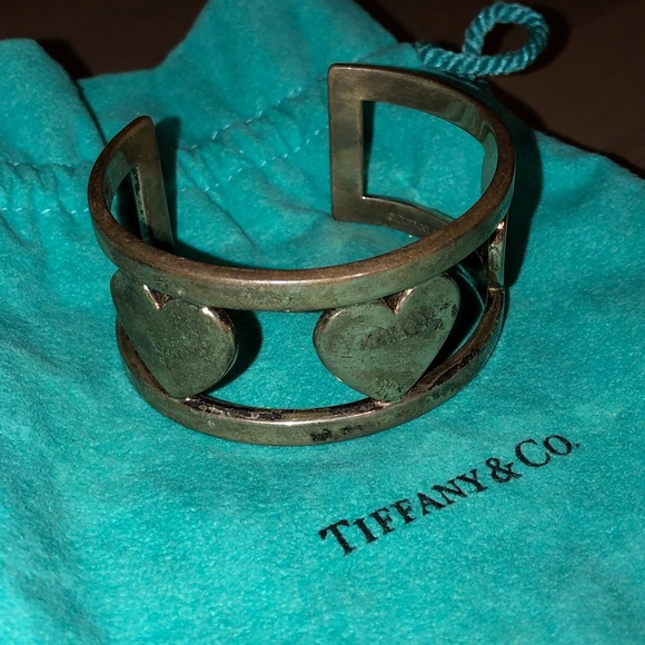 Tiffany & Co. Jewelry - Rare Tiffany's Heart Cuff Bracelet Tiffany & Co